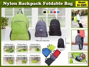 Nylon Backpack Foldable-Bags H-1511
