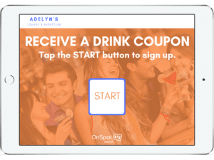 Receive a drink coupon with our guest list app - OnSpot Social