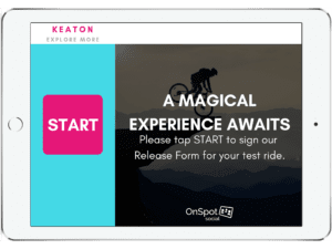 Digital waivers software support for Keaton - OnSpot Social App