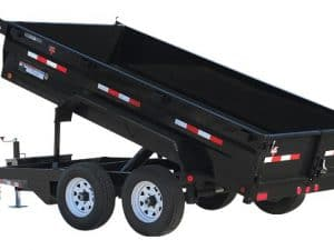 7x12 dump trailer for rent