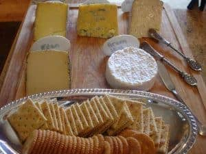Southern-style Wine and Cheese Christmas Party. All food and drink is a Southern made product.