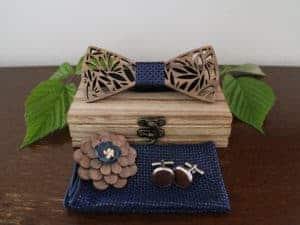 Coffret noeud papillon en bois – Jaguar