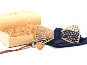Coffret noeud papillon en bois authentique – Lynx