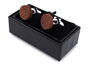 Boutons de manchette en bois epais – Hirondelle