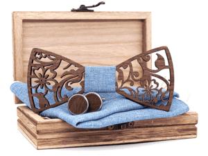 Coffret noeud papillon en bois moderne – Buffle