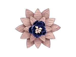 Broche fleur en bois – Marguerite