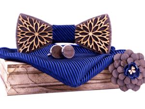 Coffret noeud papillon en bois – Paon
