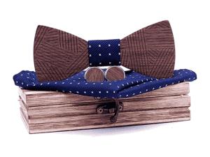Coffret noeud papillon en bois – Zèbre