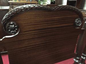 mahogany antique twin beds