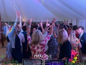 Jemima & Ed's wedding at Horsley Hale Farm with Imagine Wedding & Party Entertainment Wedding DJ