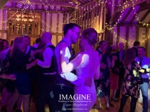 Tess & Drew's evening wedding reception with Imagine Wedding & Party Entertainment
