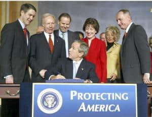 Photo of United States President,George W.Bush signs the Intelligence Reform Bill into law