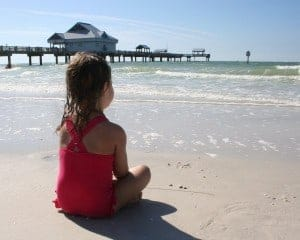 clearwater beach, clearwater beach with kids, baby on the beach, girl on the beach, clearwater florida