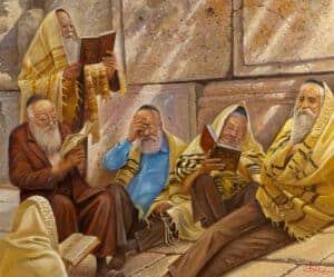 praying by the kotel