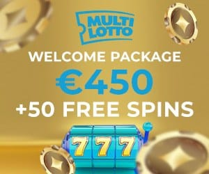 Multilotto Casino 50 free spins and €450 welcome bonus
