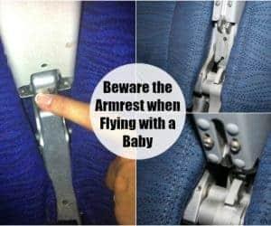Airplane Safety: Beware the Armrest when Flying with a Baby