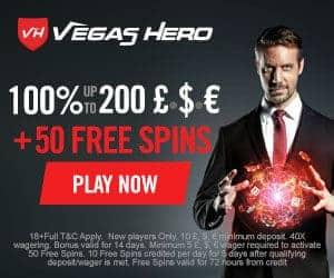 Vegas Hero Casino $/€/£1000 bonus + 50 free spins | Review