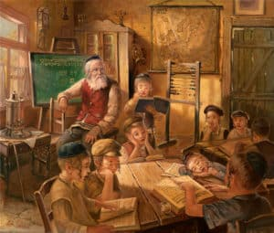 Cheider jewish life painting