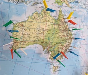 Australien Ost- und Westküste