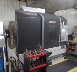 Milling machine at Wichita's Integrated Components shop