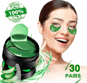 aloe vera eye patches for hydration and moisture