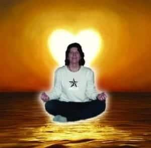 Evie Meditating
