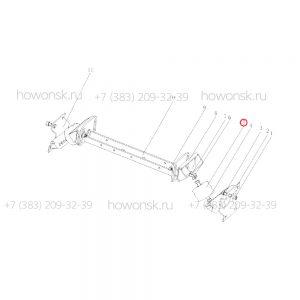 Подушка крепления опоры КПП F3000 арт. DZ9114590125 для китайских большегрузов Shacman оптом и в розницу со склада в Новосибирске.