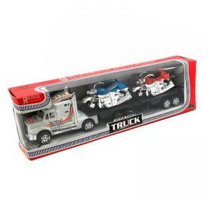 Camion Friccion Con 2 Motos