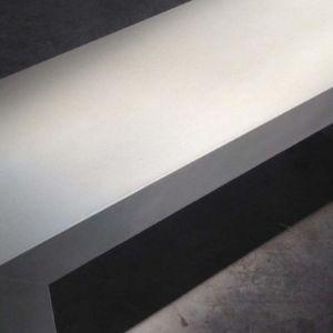 White Concrete Parsons Bench
