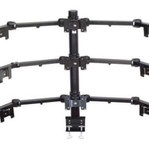Premier Mounts 3 Triple Display Multi Monitor Arms On 42′ Tube With Clamp Style Base. MM-AC429