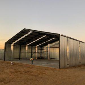 Wash Bay & workshop construction at Makoya, Ecotech Africa