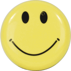 Smiley Face Button Pin Hidden Camera With With DVR