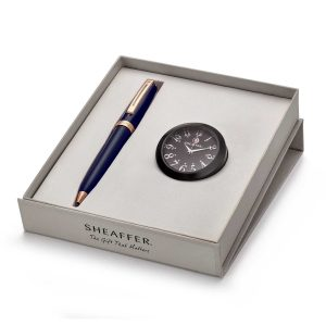 Sheaffer 9143 Ballpoint Pen With Black Table Clock Rs. 5775