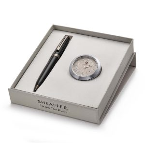 Sheaffer 9144 Ballpoint Pen With Chrome Table Clock Rs. 4400