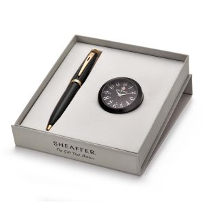 Sheaffer 9322 Ballpoint Pen With Black Table Clock Rs. 2000