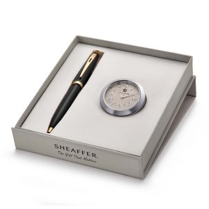 Sheaffer 9322 Ballpoint Pen With Chrome Table Clock Rs. 2000