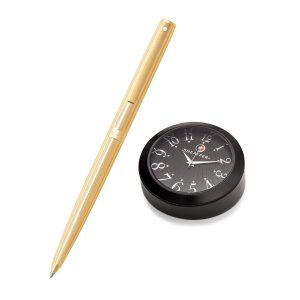 Sheaffer 9474 Ballpoint Pen With Black Table Clock Rs. 4200