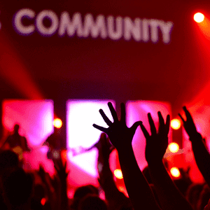 Community - People at concert together