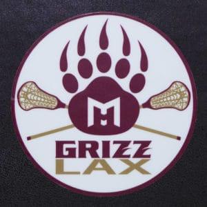 Sticker - Grizz LAX - Paw with Lacrosse Sticks