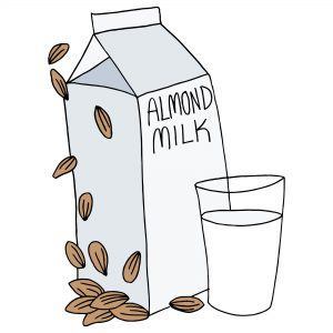 freeze almond milk