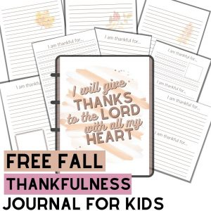 Free Thankfulness Journal for Kids