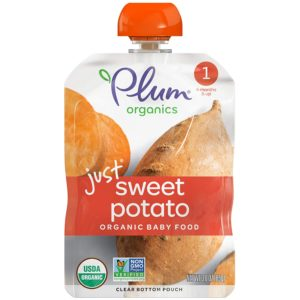 Plum Organics Just Sweet Potato Baby Food Best Organic Baby Food Pouches