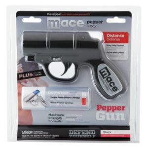 Mace Pepper Gun With Strobe LED Black Blister Pack