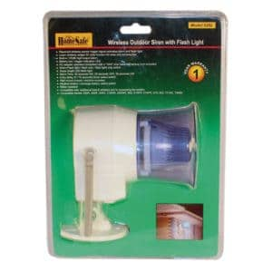HomeSafe Wireless Outdoor Siren Blister Pack Front View