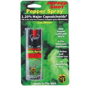 Pepper Shot 1.2% MC 2 oz Pepper Spray Blister Pack