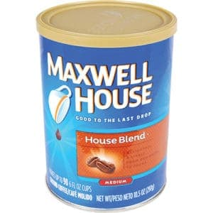 Maxwell house coffee diversion safe standing