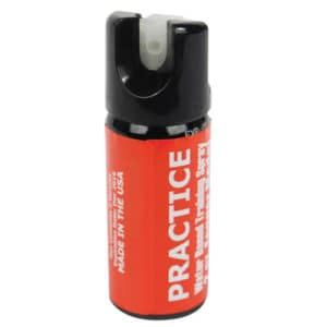 red inert fake pepper spray for practice