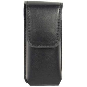 rear view li'l guy stun gun black leatherette holster
