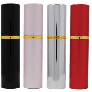 set of four pepper shot lipstick clack pink silver red
