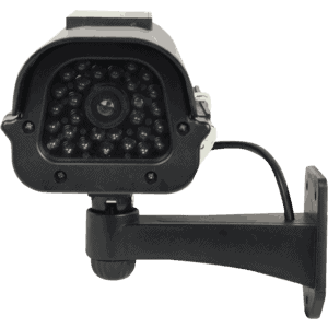 fake security dummy camera with light